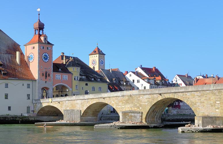 Donaubrücke in Regensburg